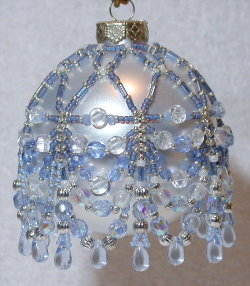 Icey Blue Swag Ornament Cover
