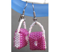 Peyote Handbag Earrings #1
