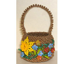 Beaded Easter/Flower Basket