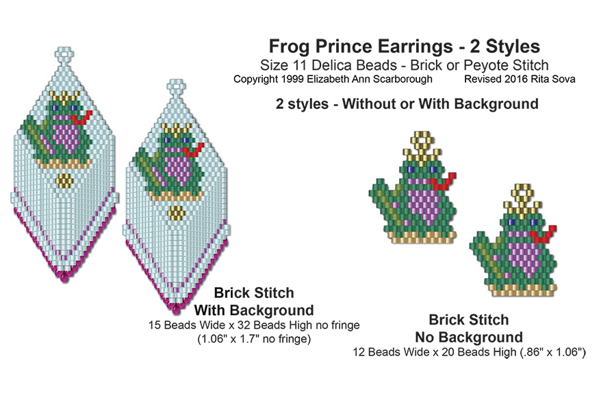 Frog Prince Earrings 2 Styles