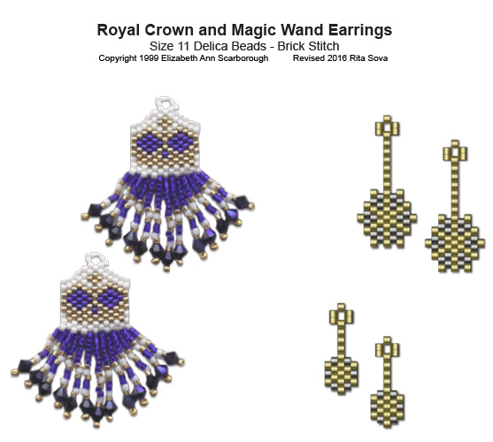 Royal Crown and Magic Wand Earrings