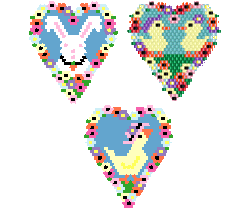 Easter Hearts & Flowers
