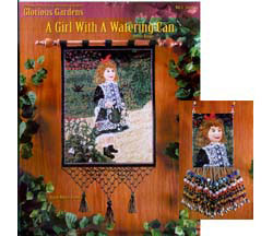 Glorious Gardens-A Girl With A Watering Can