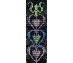 German Hearts Door Hanging / Bellpull