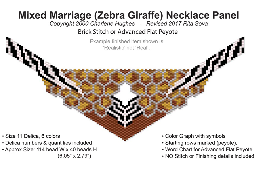 Mixed Marriage (Zebra Giraffe) Necklace Panel