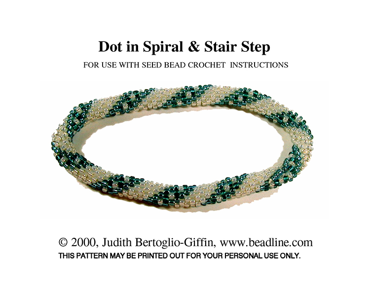 Bead Crochet Dot in Spiral & Stair Step