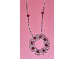Circular Bling-Bling Pendant Necklace