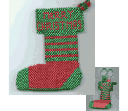 Christmas Stocking Gift Bag, Ornament or Pin