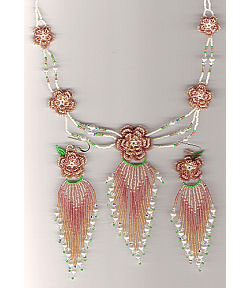 Beaded Irish Rose Set