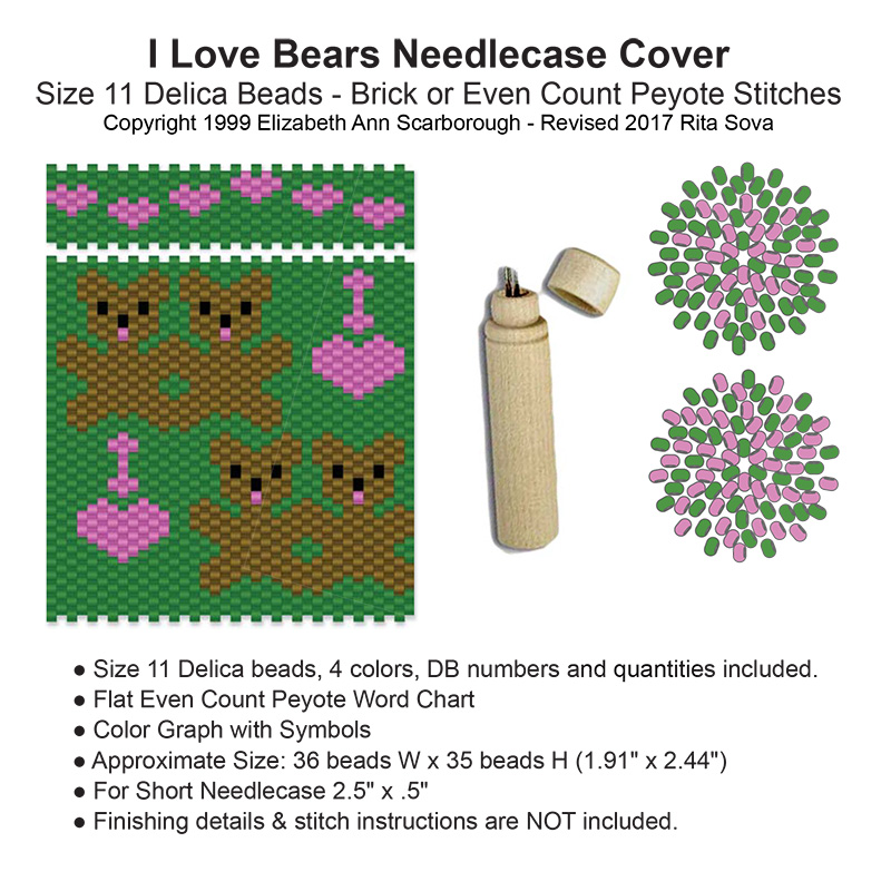 I Love Bears Needlecase Cover