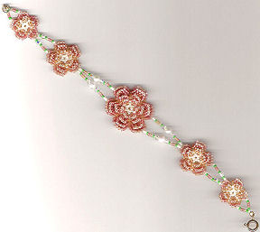 Beaded Irish Rose Bracelet