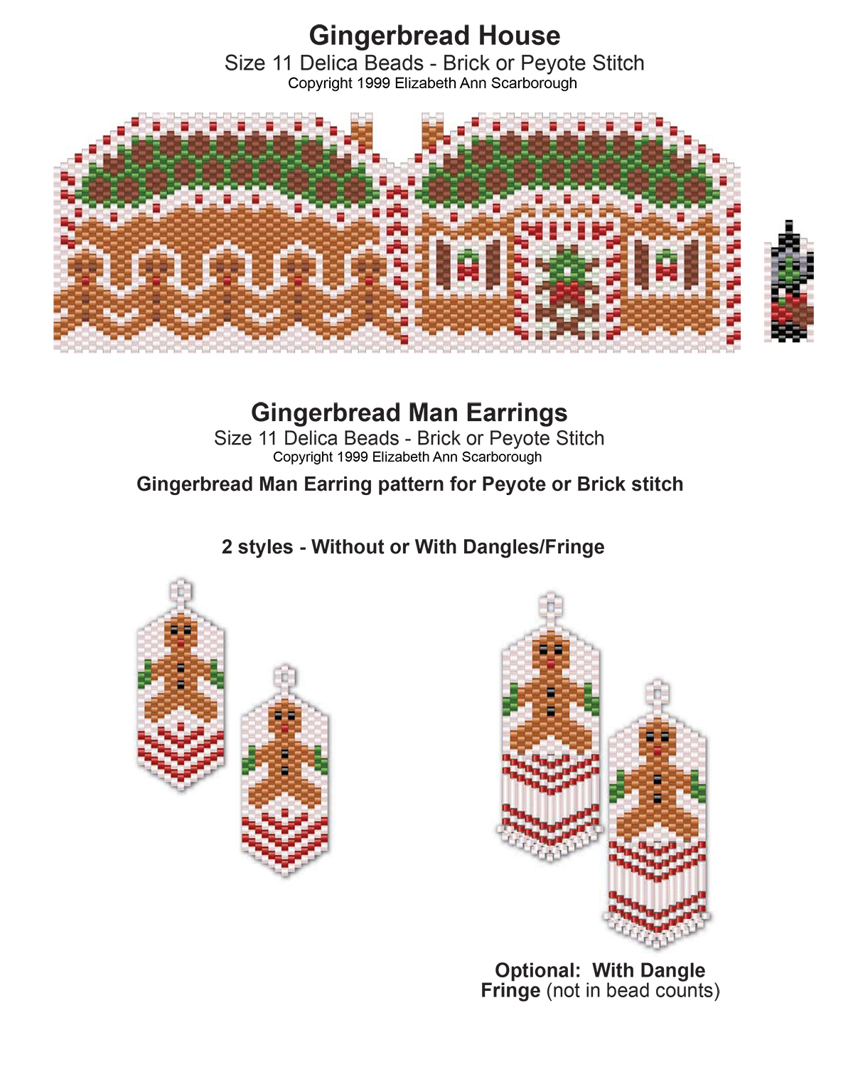 Gingerbread House and Gingerbread Man Earrings