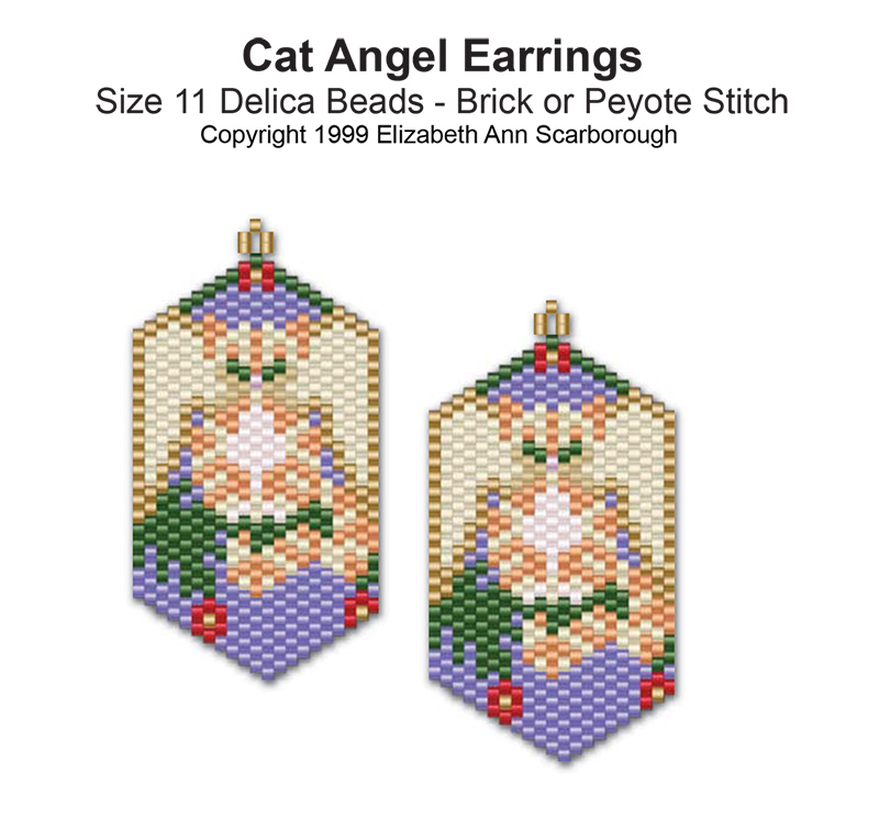 Cat Angel Earrings