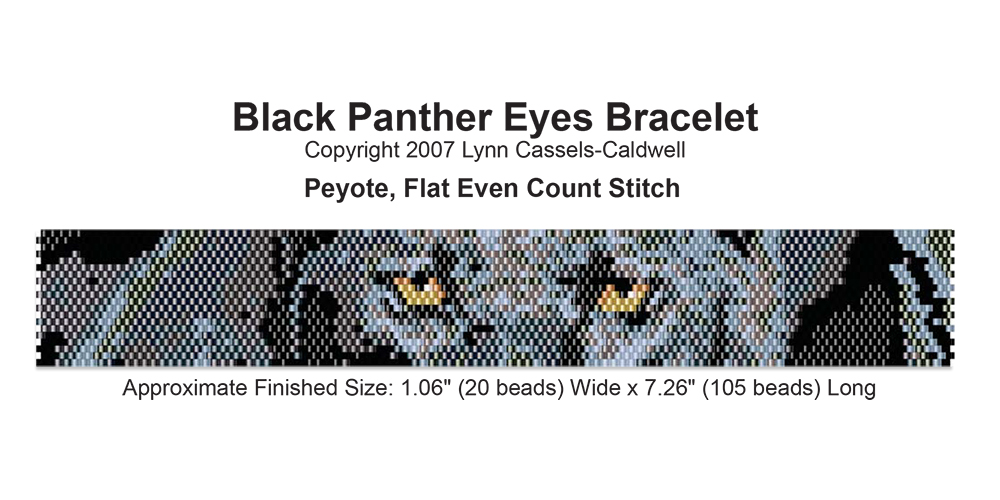 Black Panther Eyes Bracelet