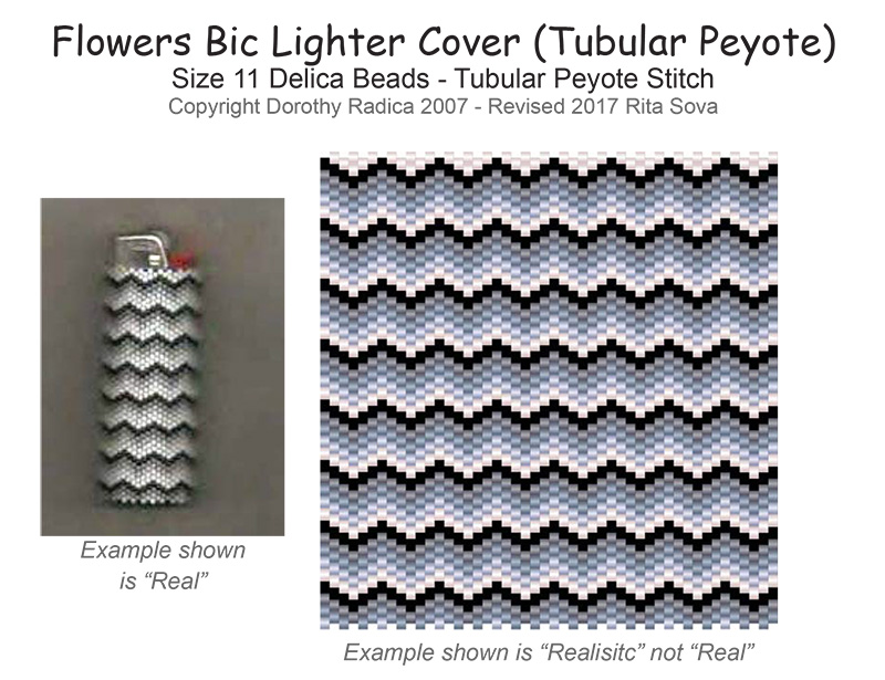 Bic Lighter Cover (Tubular Peyote)