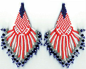 Red and White Stars and Stripes Earrings