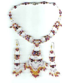 Exotica Earrings and Necklace Set