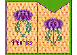 Peyote Peonies Business Card Sleeve / Amulet Bag