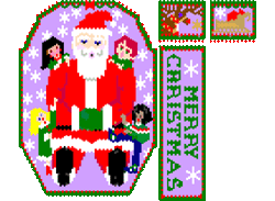 Santa Storyteller (shaped: more advanced version)
