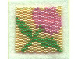 Rose Square for Breast Cancer Beaded Quilts
