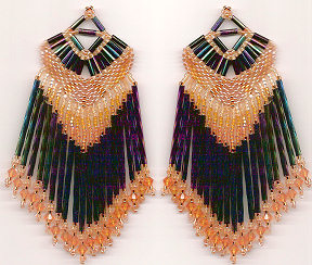 Fancy Fringed Shawl Earrings or Pendant