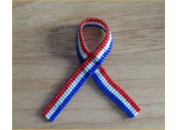 Red, White and Blue Versa Loomed Ribbons