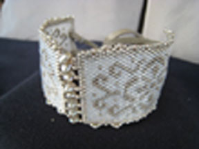Chantilly Lace and Pearls Cuff