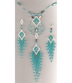 Caribbean Mist Necklace and Earrings Set