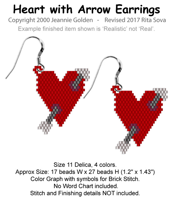 Heart with Arrow Earrings