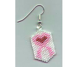 Breast Cancer Ribbon Earrings