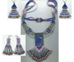 Bastet Necklace Set with Instructions for Fancy Strap, and 2 Ear