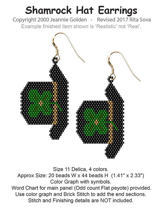 Shamrock Hat Earrings