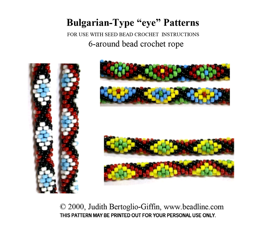 Bead Crochet Bulgarian-Type EYE Patterns