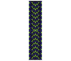 Cobalt N Lime Bracelet - Narrow