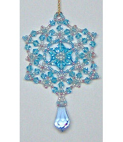Blue Ice Crystal Ornament/Pendant