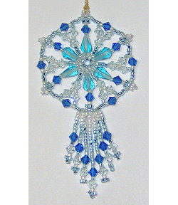 Icy Fringed Spoke Crystal Ornament