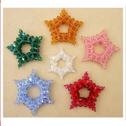 3-D Crystal Star or Snowflake