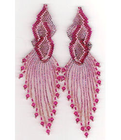 Fuschia Flames Earrings