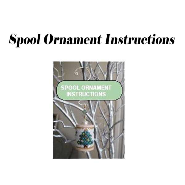 Spool Ornament Instructions