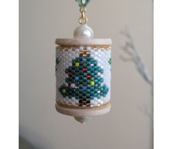 Xmas Tree Spool Ornament