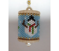 Snowman Spool Ornament