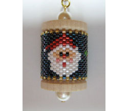 Santa Spool Ornament