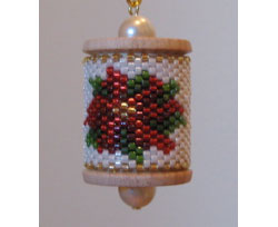 Poinsettia Spool Ornament