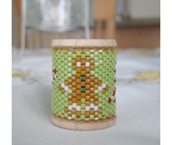Gingerbread Man Spool Ornament