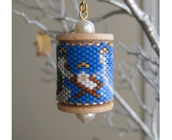 Nativity Spool Ornament