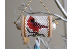 Cardinal Spool Ornament