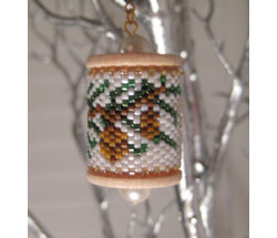 Evergreen Spool Ornament