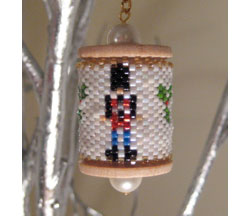Nutcracker Spool Ornament