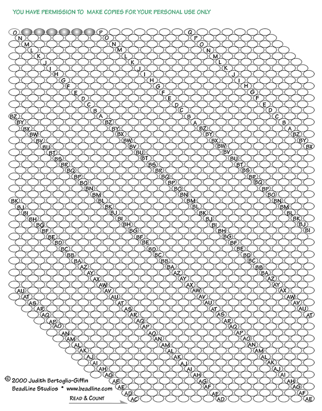 Bead Crochet Rope Graph Paper