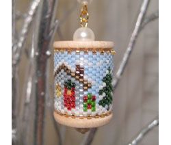 Country Christmas Spool Ornament